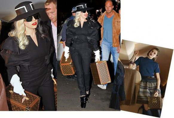 Lady Gaga and her vanity louis vuitton
