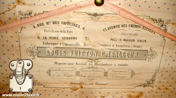 old Louis Vuitton trunk label