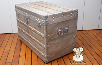 rarest Louis Vuitton trunk in the world aluminum trunk