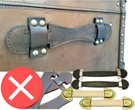 trunk vuitton Handle in bad condition