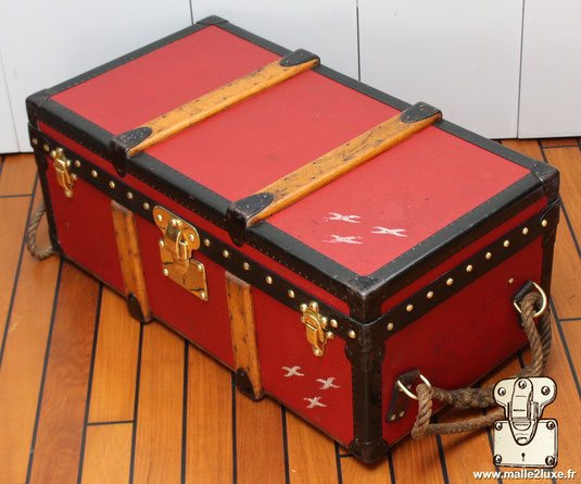 trunk louis vuitton 1929 very rare Albert Kahn