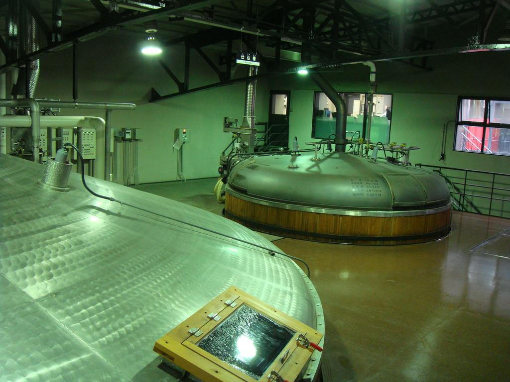 仕込み発酵室…サントリー山崎蒸留所