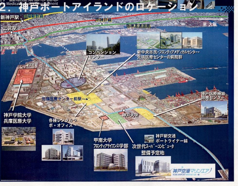 神戸ポートアイランド医療マップ