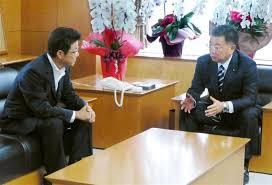 松井知事と文部科学大臣