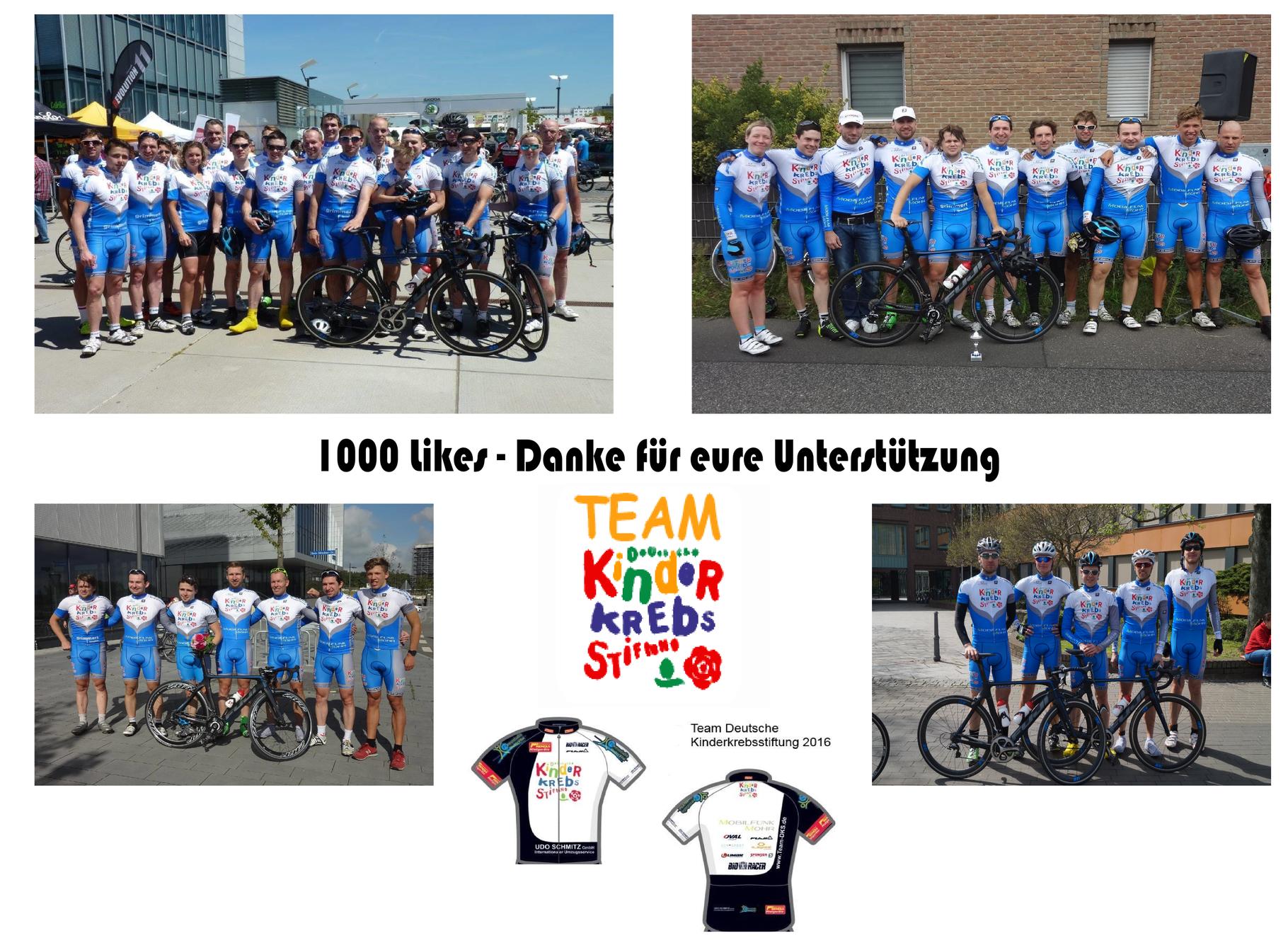 1000 Likes auf Facebook - Danke - Team-DKS