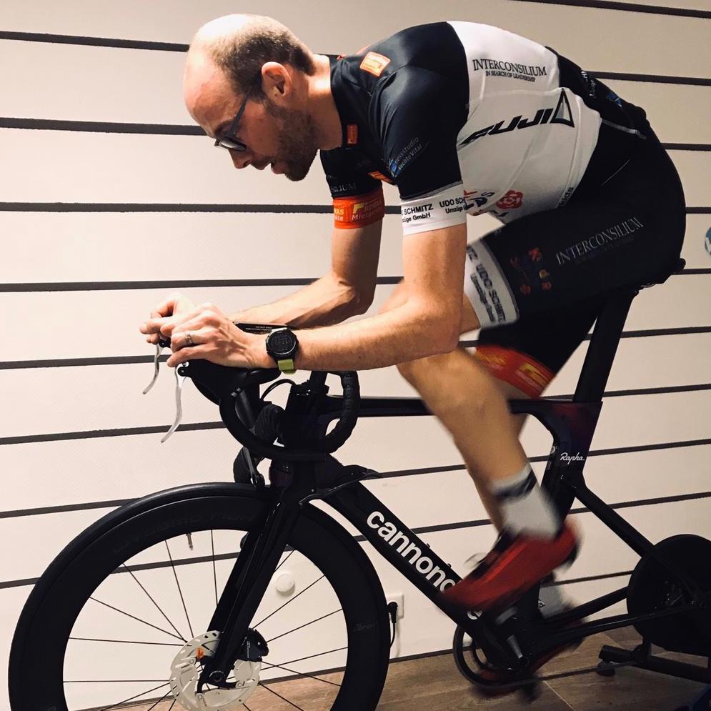 Karsten beim Bike fitting @wattwerk