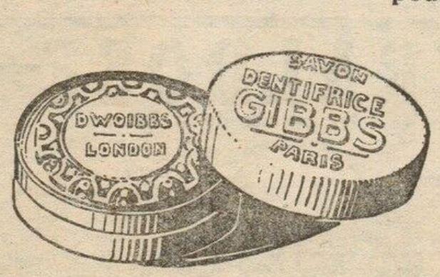 Gros plan d'une publicité de 1917
