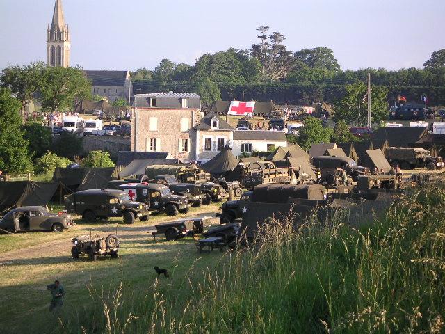 Campement américain reconstitué en Normandie