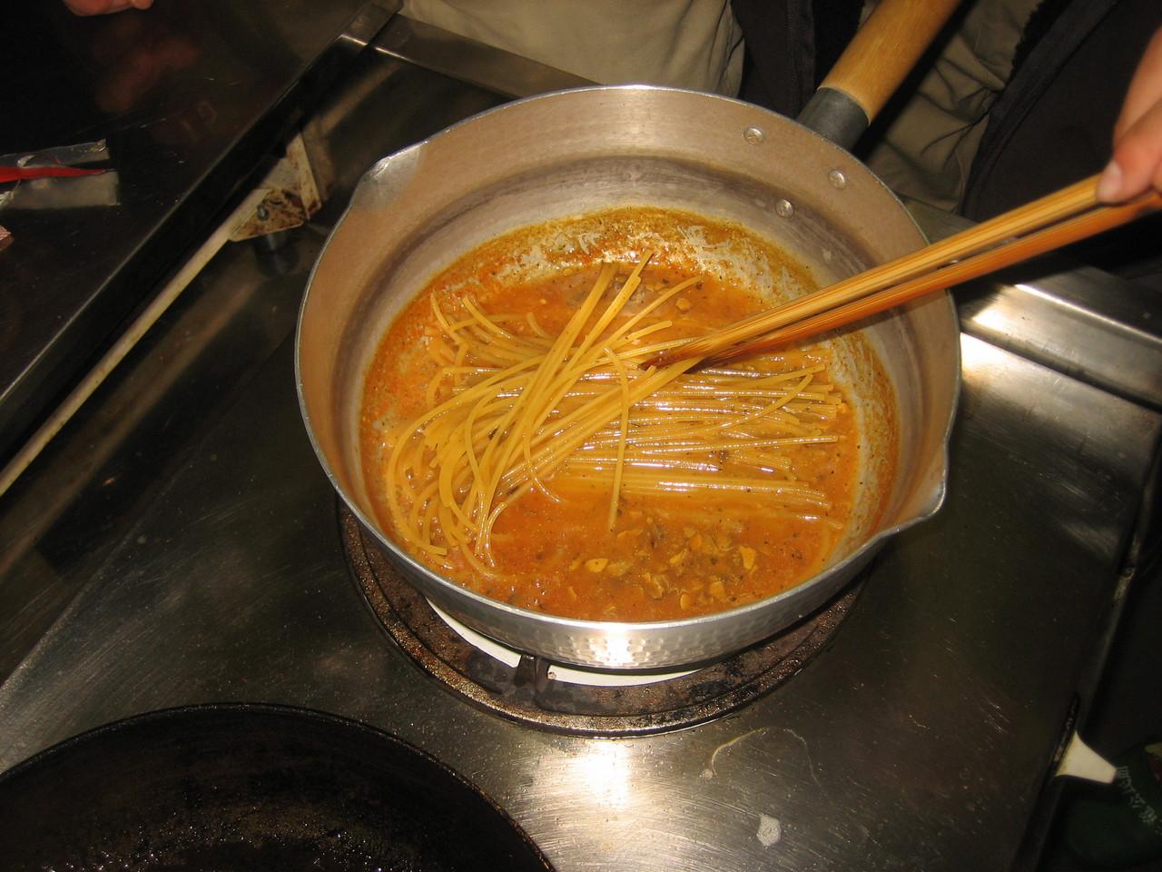 5分で出来るスパゲティー