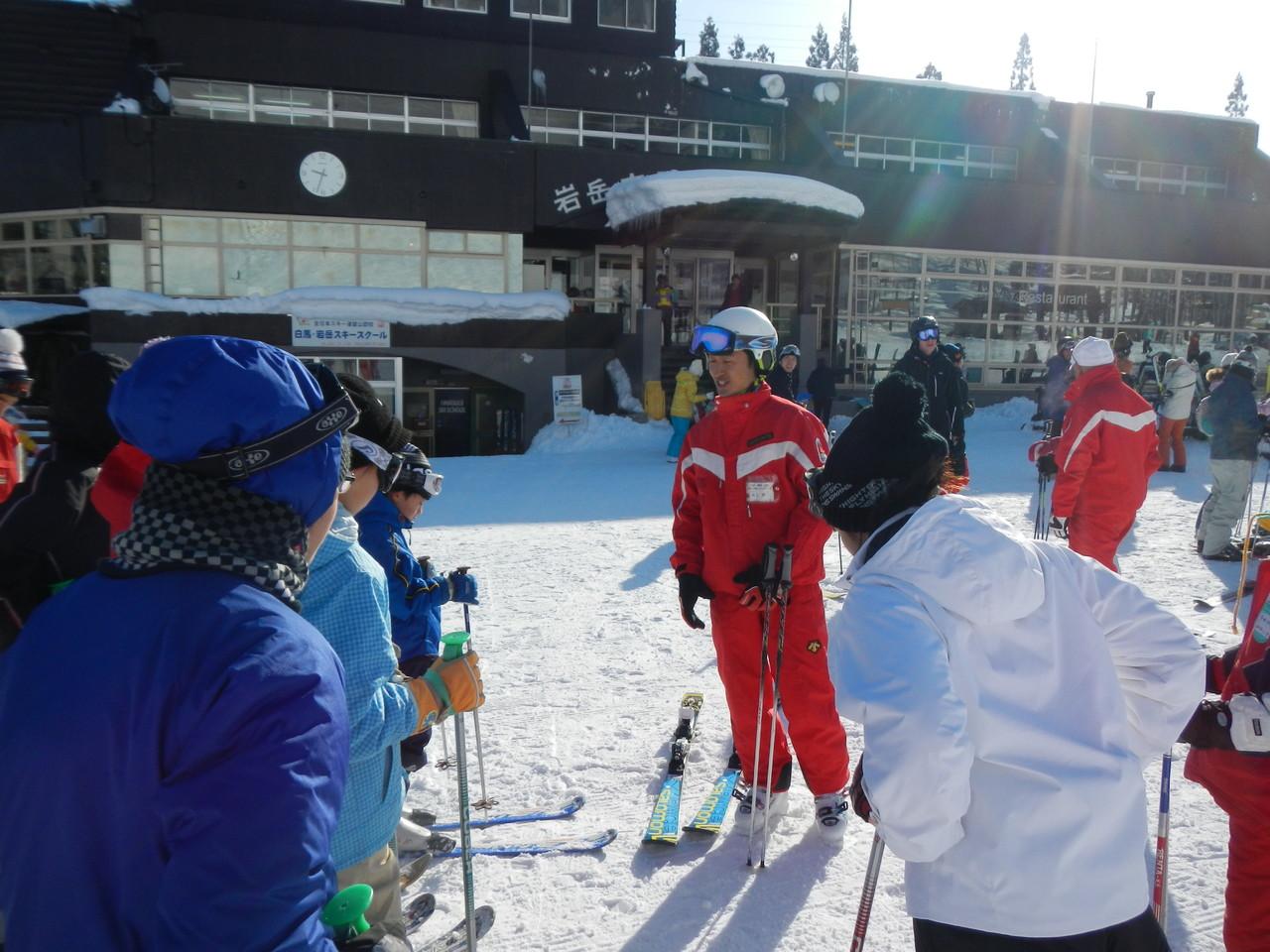1日目はスキー教室へ