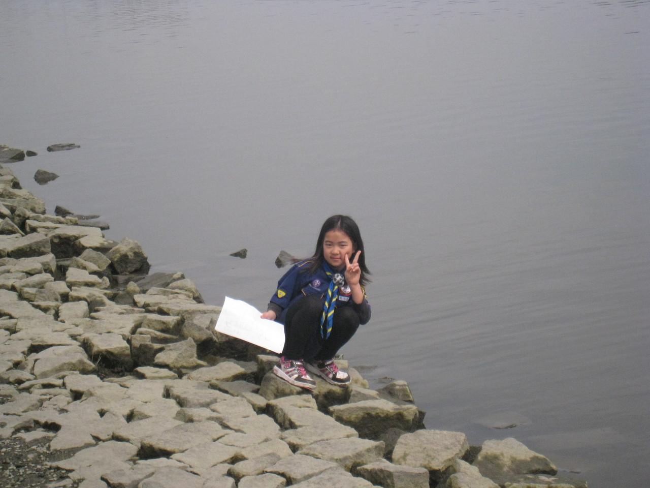 佐鳴湖にて