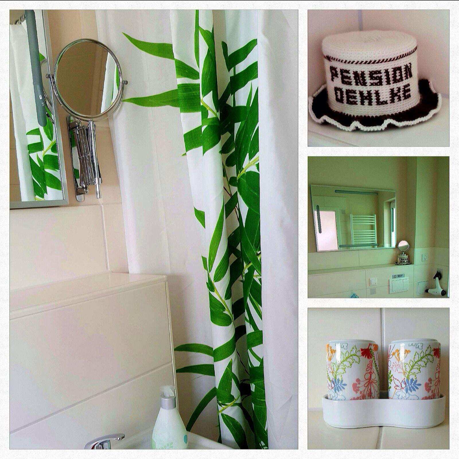 Jedes Zimmer mit Duschbad und WC.