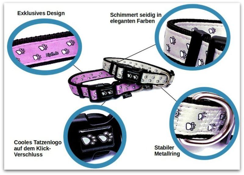 DipthDesign exklusive Design Kollektion Hundehalsbänder