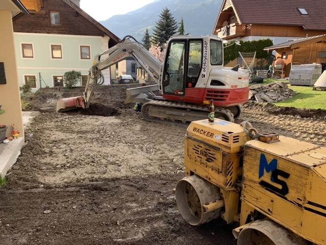 Parkplatz Unterbau - Feinplanie