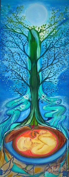 ritual de la placenta, el arbol de la vida placenta, crianza natural