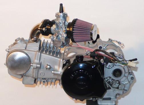Kräftig: Motor einer Honda Nice.