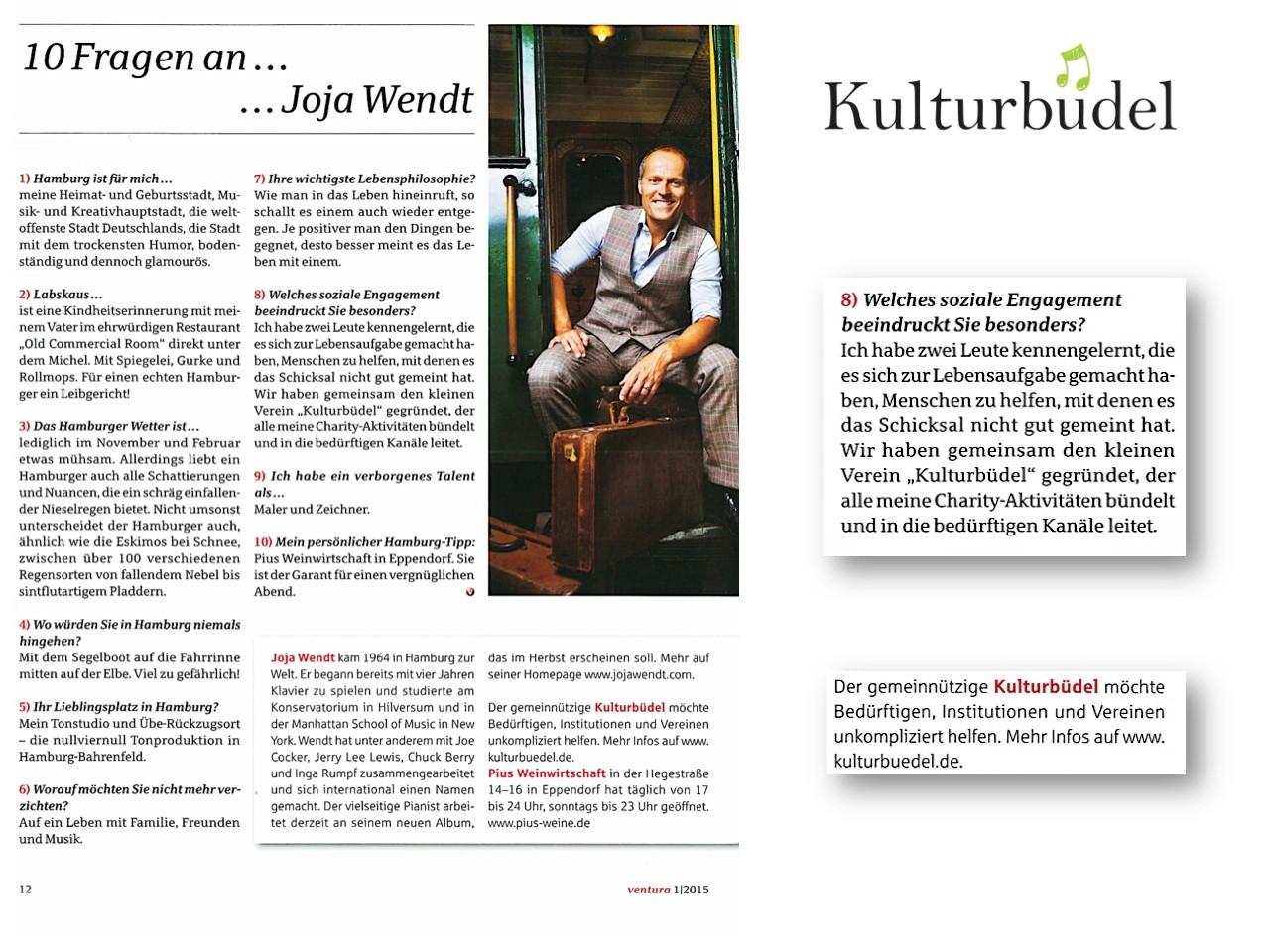 ventura, 1/2015, das Private Banking Magazin von der Haspa