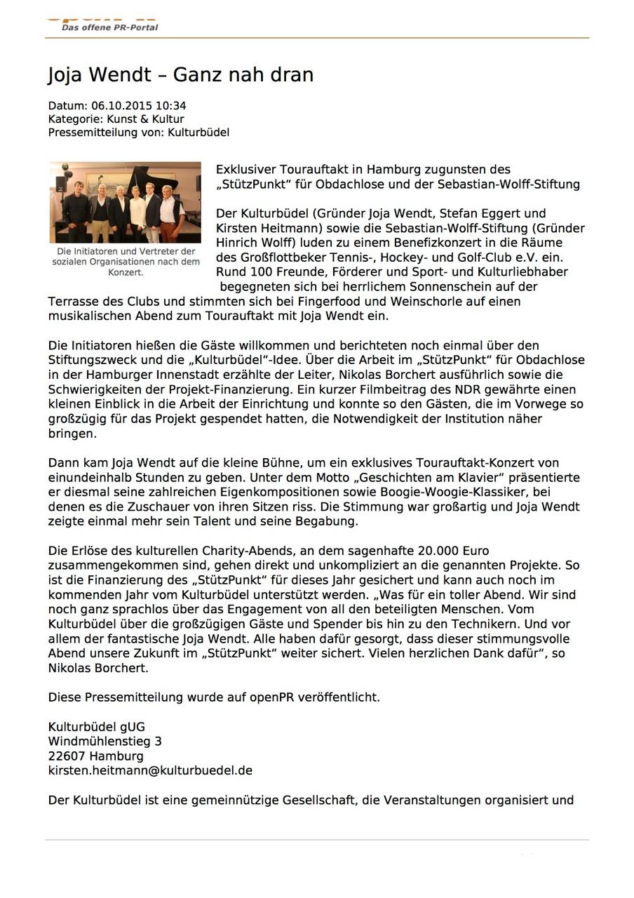 openPR, 07.10.15_Joja Wendt - Ganz nah dran
