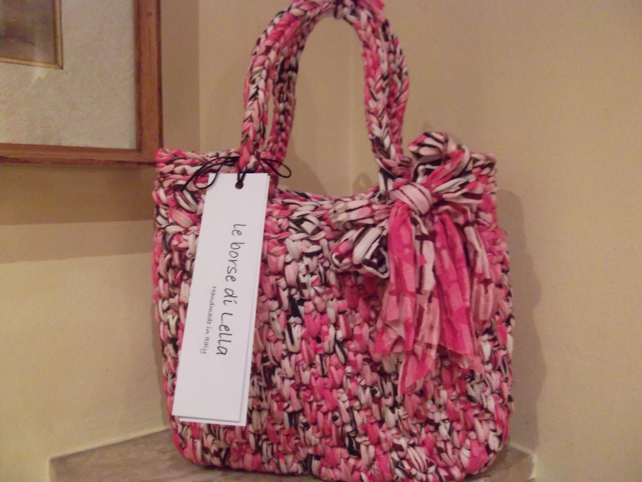 mod. 40 - fettuccia in jersey cotone - melange rosa - peso gr. 580 - EURO 50,00