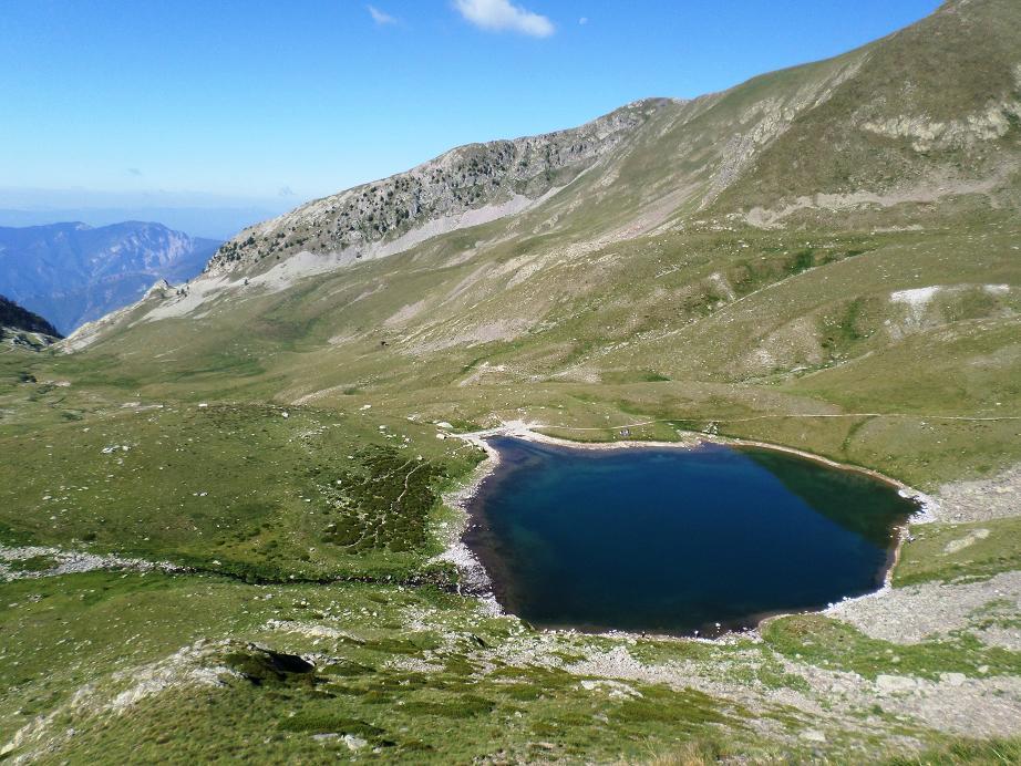 Le lac Petit vu du haut