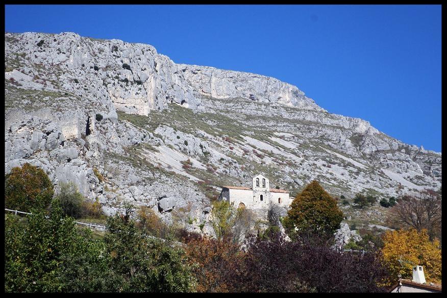 Vue depuis le village de Gréolières