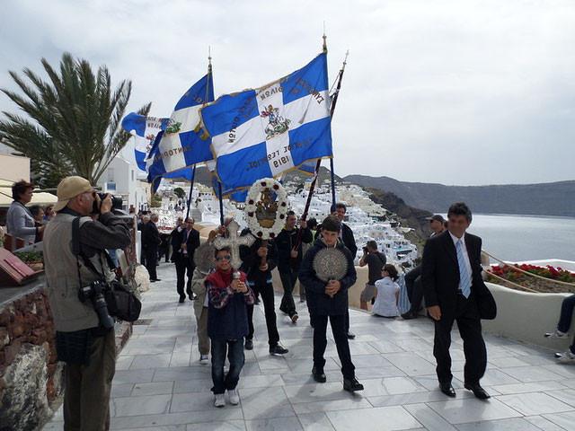 Nous avons même eu droit à une petite procession !