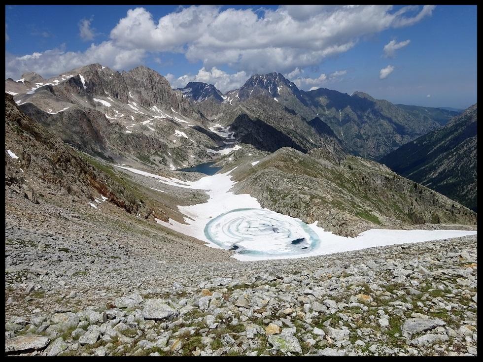 Les lacs du côté italien, du haut du col de Frémamorte