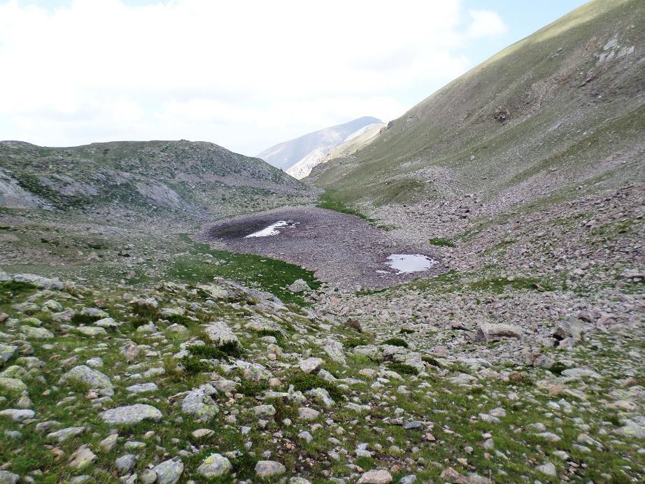 Lac d'En Veillos, ou ce qu'il en restait à la mi-juillet