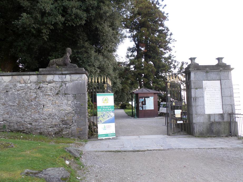 Entrée de la villa Melzi