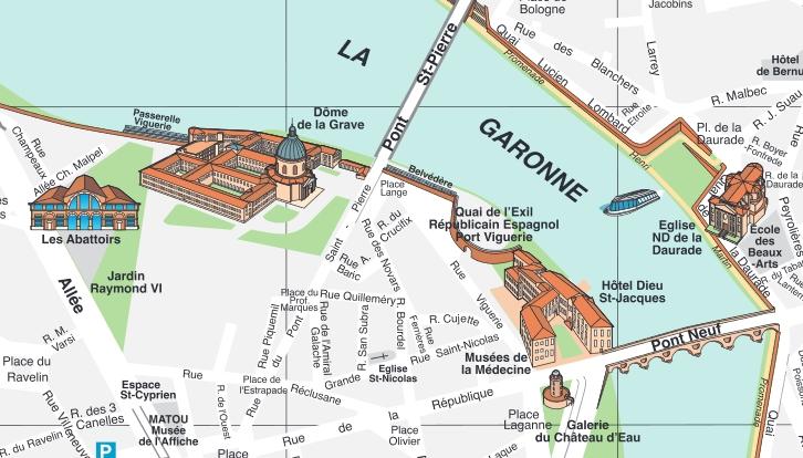 Extrait d'un plan tiré du site de l'Ofiice de tourisme
