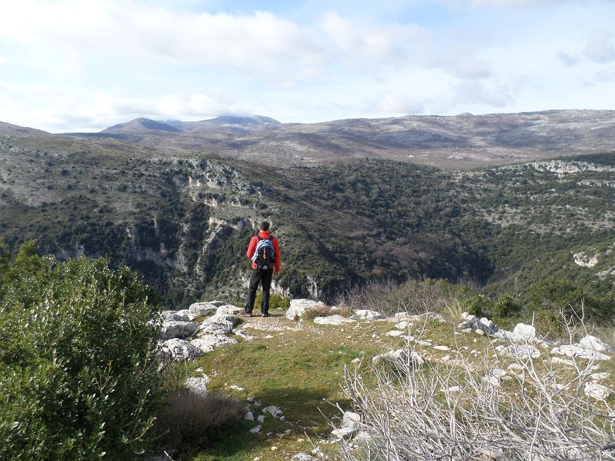 Autre vue devant le Castellet, vers l'intérieur des terres