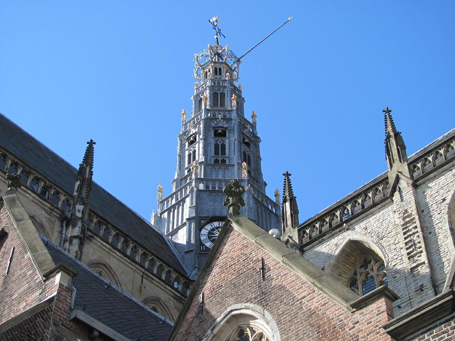 La tour-lanterne en bois de la Grote Kerk