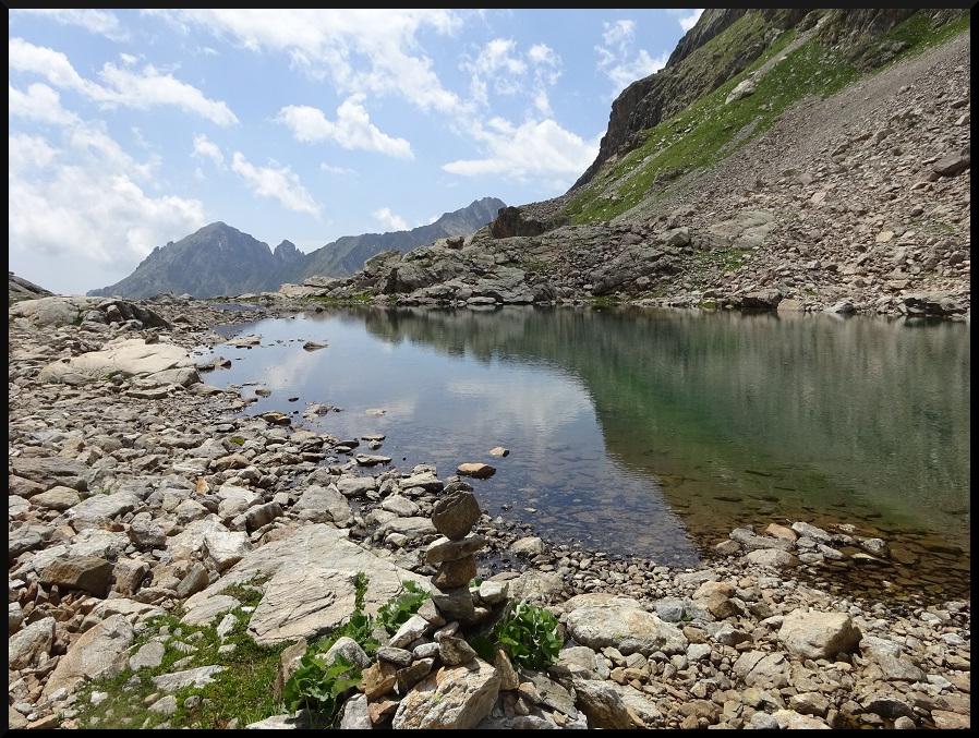 Un des deux lacs du mont Clapier