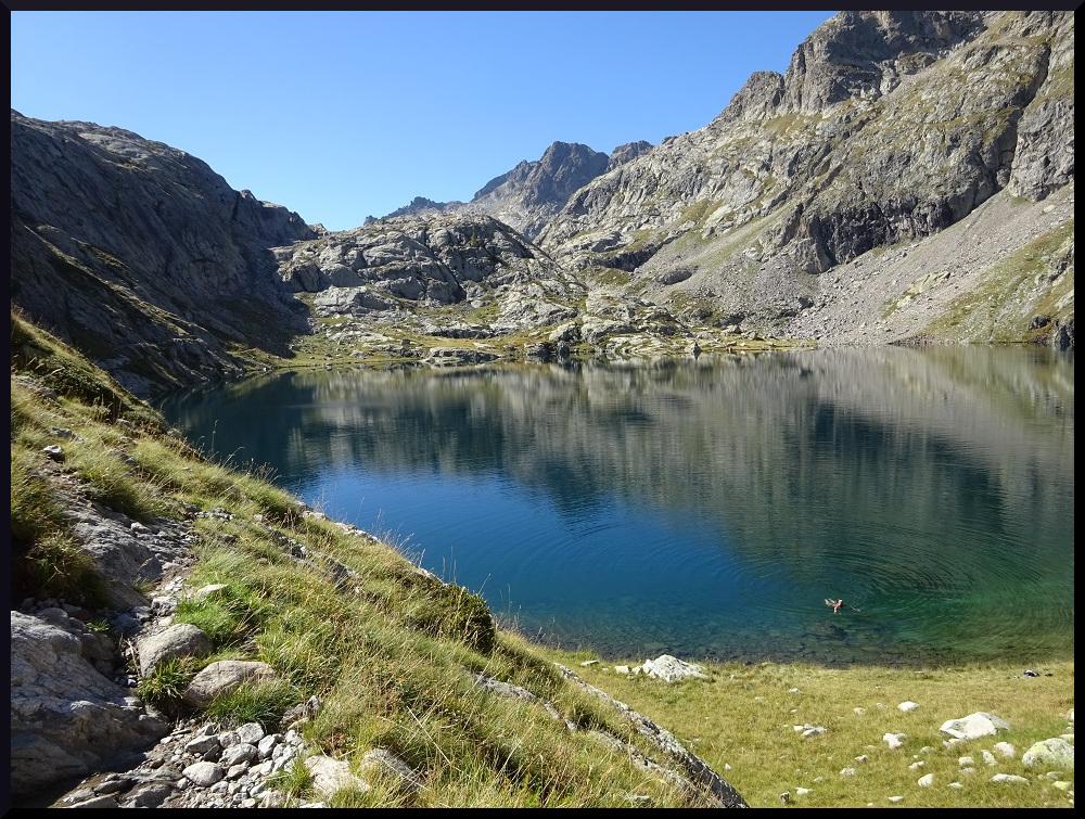 Le lac Noir avec une nageuse courageuse 😉