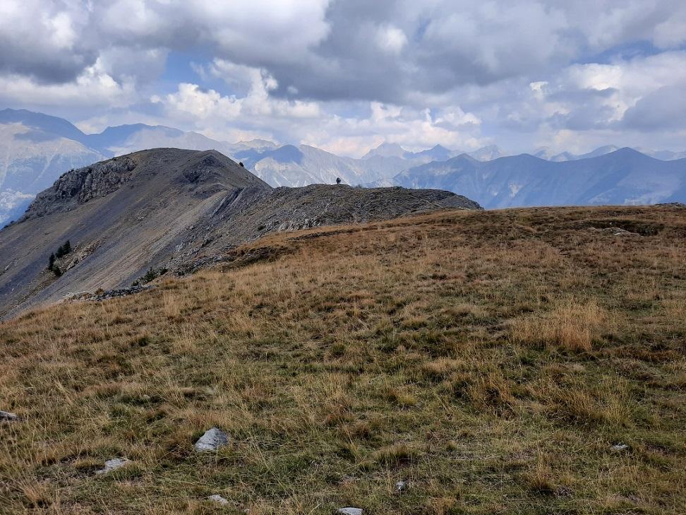 La crête du Mont Gravières au loin