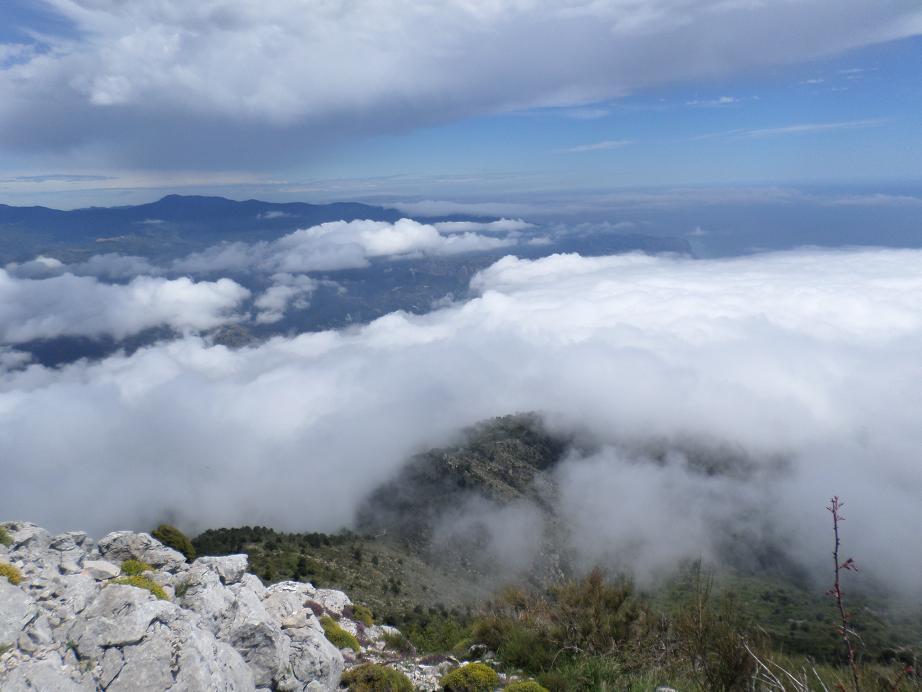 La côte italienne était malheureusement sous les nuages !