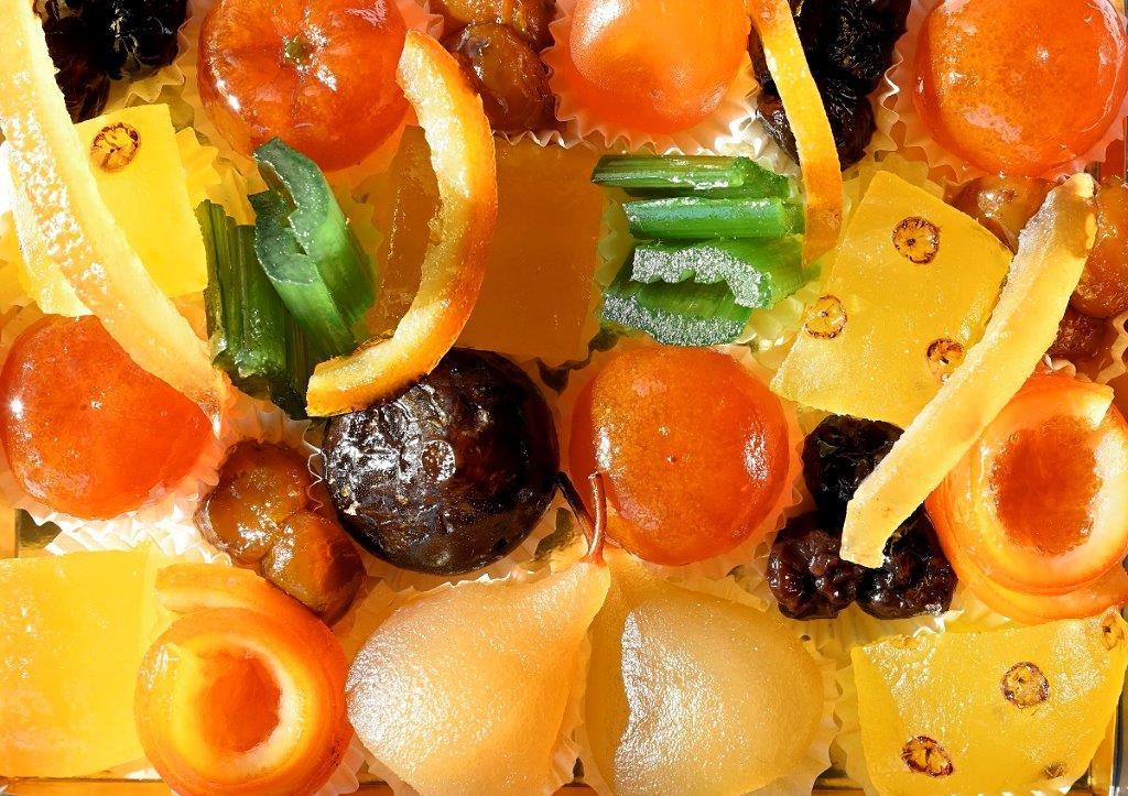 Fruits confits (6,10 € les 100 g)