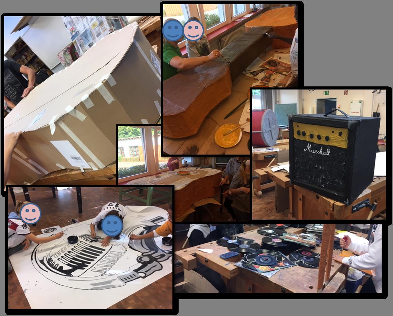 Bau einer riesen Gitarre