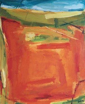 Campo Rojo II, Öl auf Leinwand, 2001, 120 x 90 cm