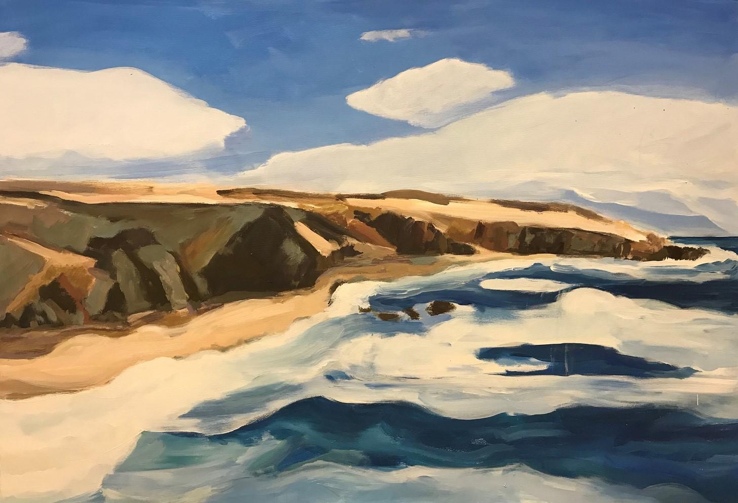 Kanarische Felsenküste 1, 2020, Mischtechnik-Leinwand, 90x130 cm