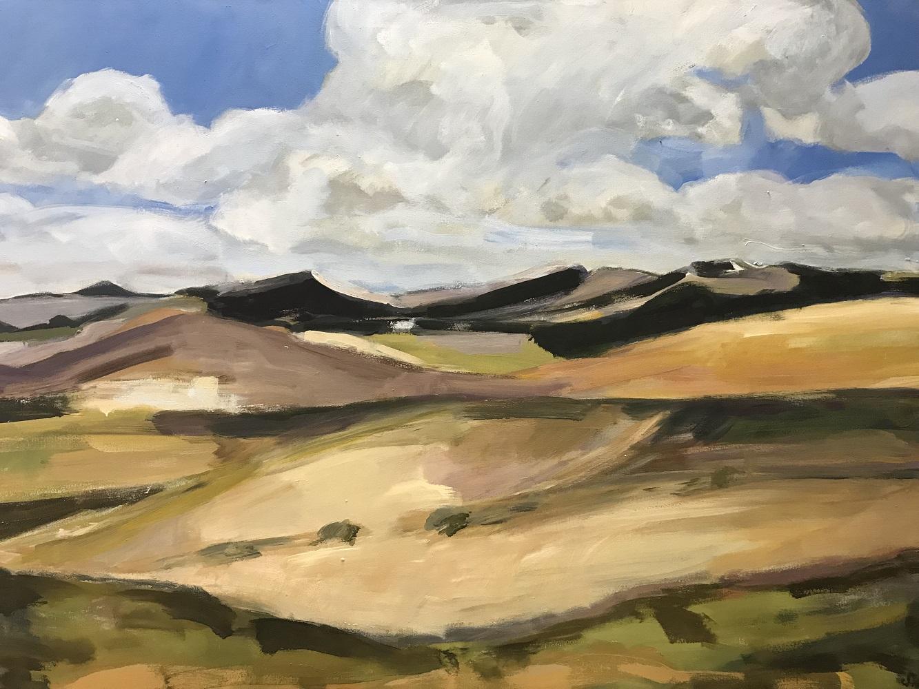 Kanarische Vulkanlandschaft 01, 2018, Mischtechnik-Leinwand, 90 x 130 cm