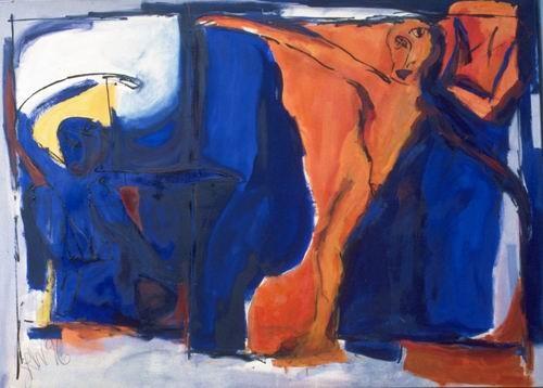 Auferstehung I, Öl auf Leinwand, 1996, 150 x 200 cm