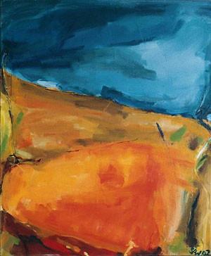 Campo Rojo I, Öl auf Leinwand, 2001, 120 x 90 cm
