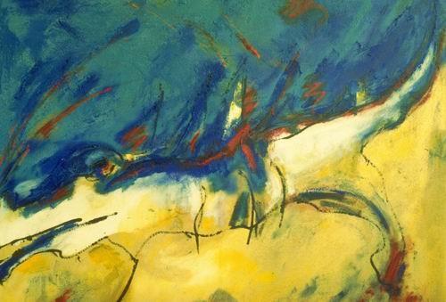 Drei Elemente, Öl auf Leinwand, 1995, 95 x 120 cm