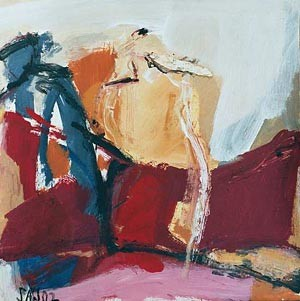 ohne Titel, Mischtechnik, 2002, 30 x 30 cm