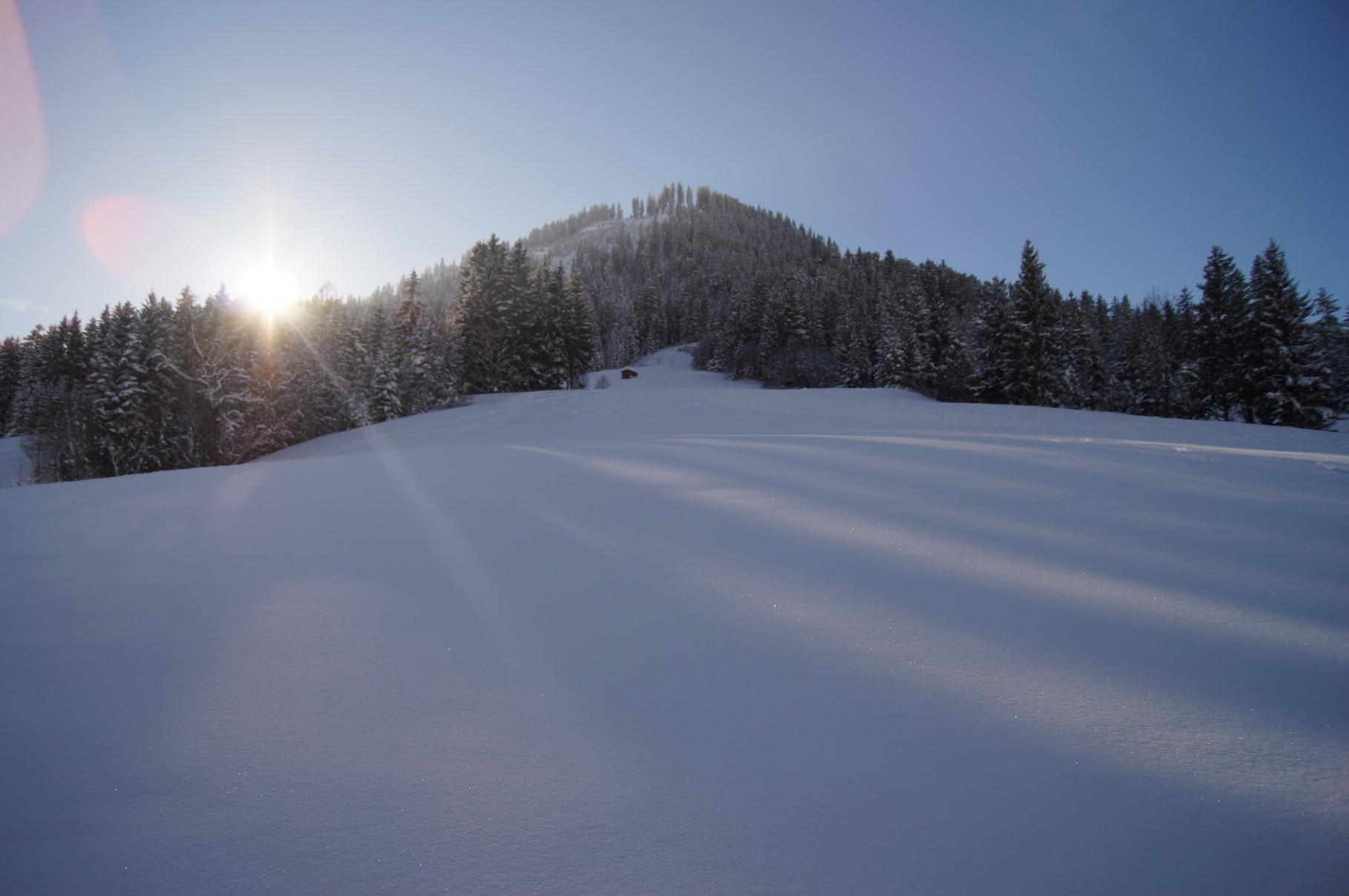 Ski run behind the chalet