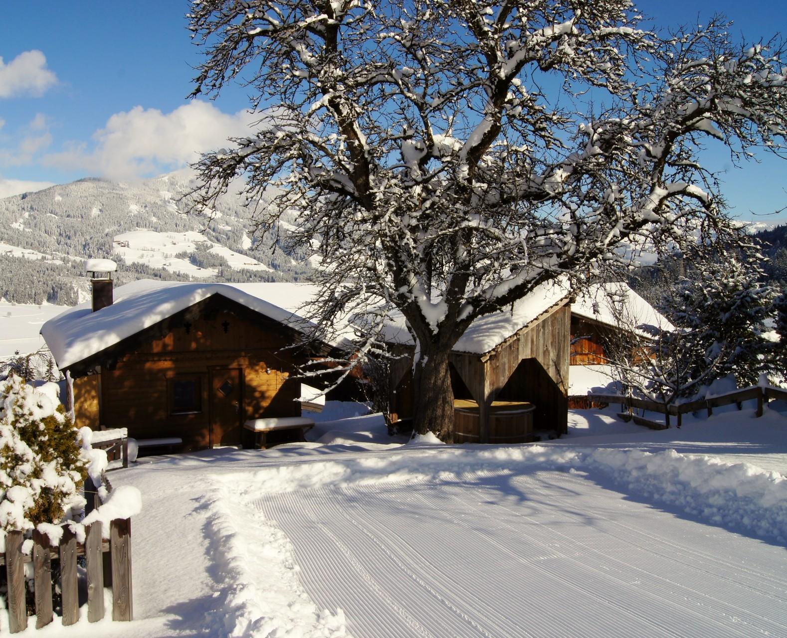 Ski run next to the Chalet