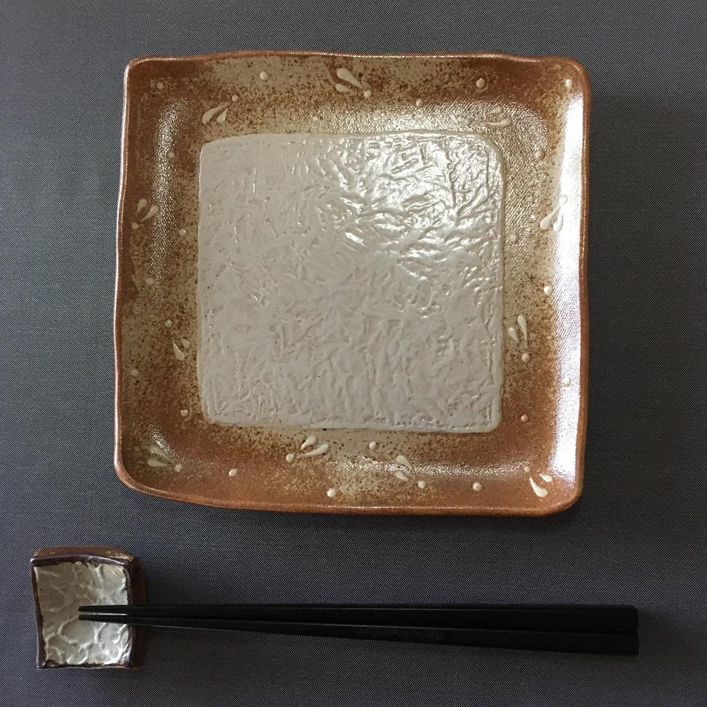 ビックリの角皿&四角い箸置き