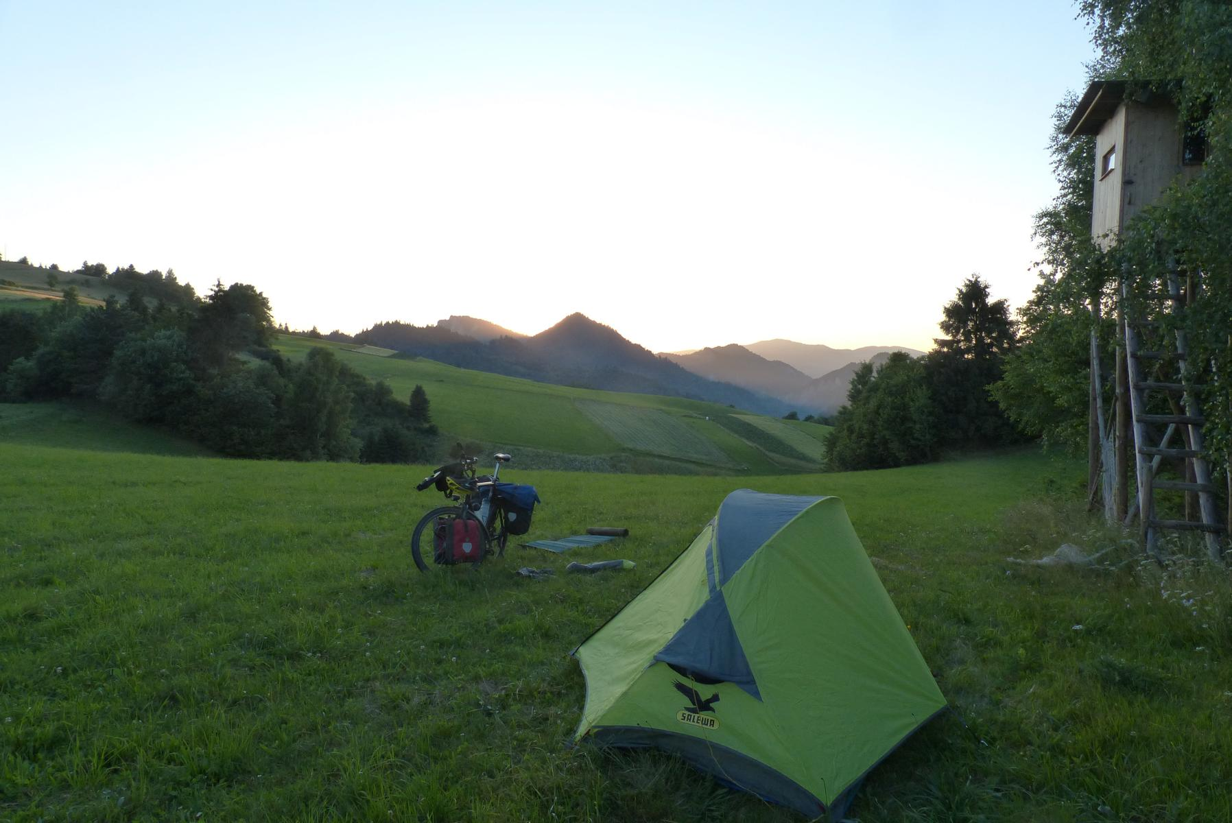 Unweit des Durchbruchtals: Die schönsten Campingplätze sind die wilden.
