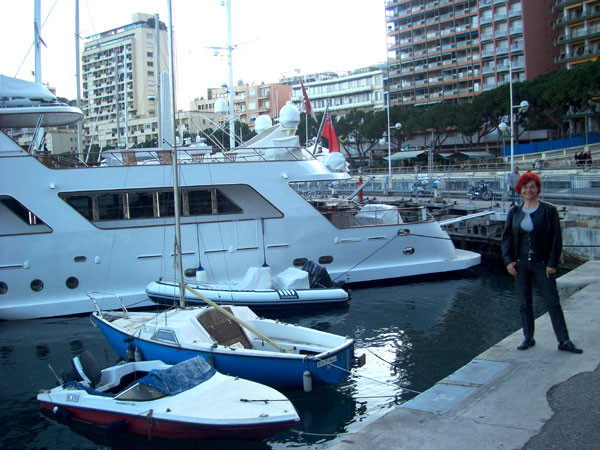 Rajka Poljak Franjević im Hafen in Monte Carlo